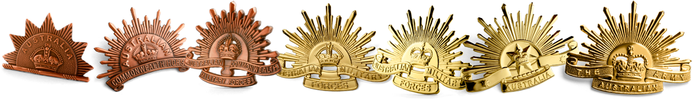 The Rising Sun General Service Hat Badges